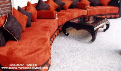 salon marocain en orange - zouhair10
