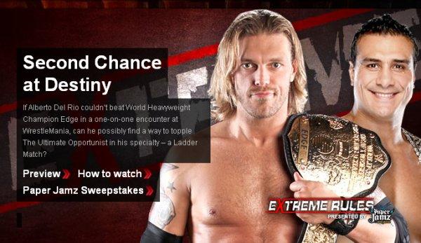"""Carte partielle de """"WWE Extreme Rules"""" 2011."""
