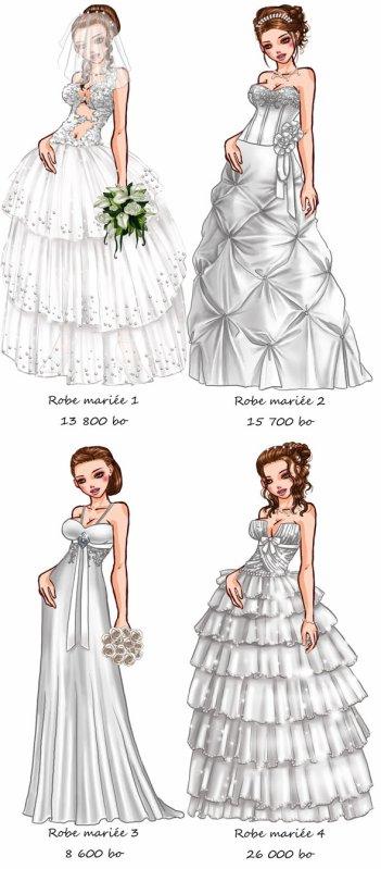 Des robes de mariées ! =D