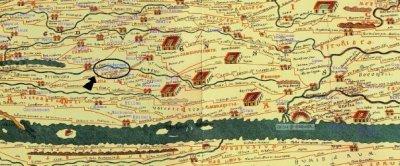 La voie Avaricum-Augustoritum: LA TABLE DE PEUTINGER (XIIIe siècle)