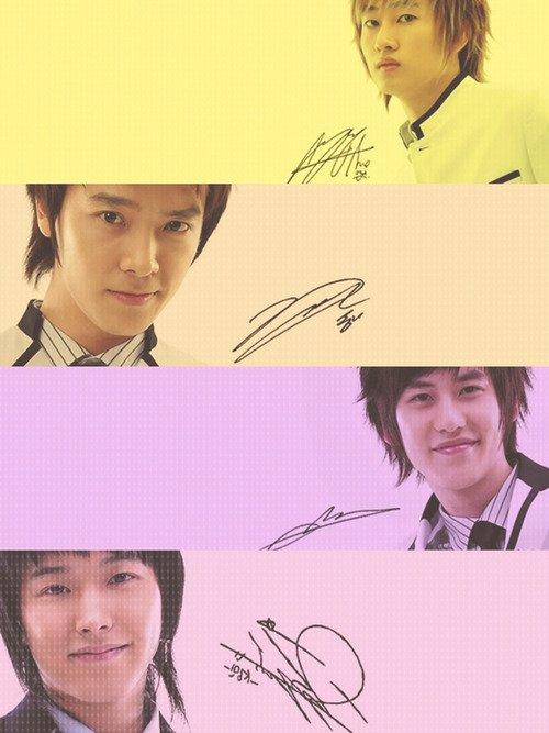 Les signatures des Suju :)