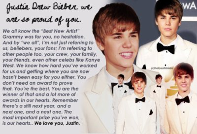 We're proud of Justin. ♥