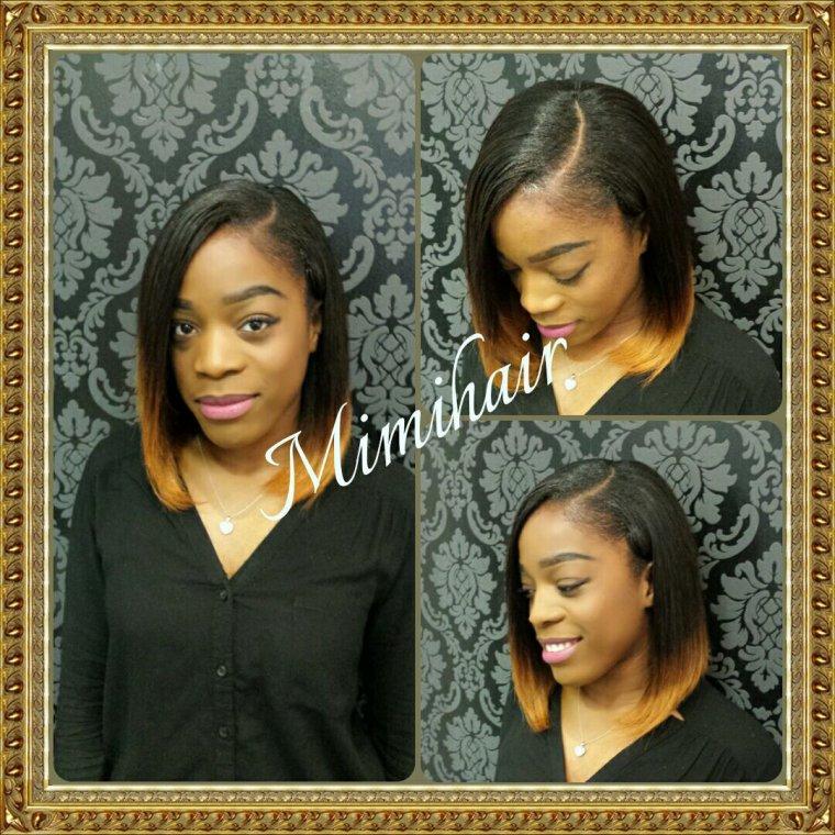 Tissage carré plongeant - Fashion hair & Fashion make up