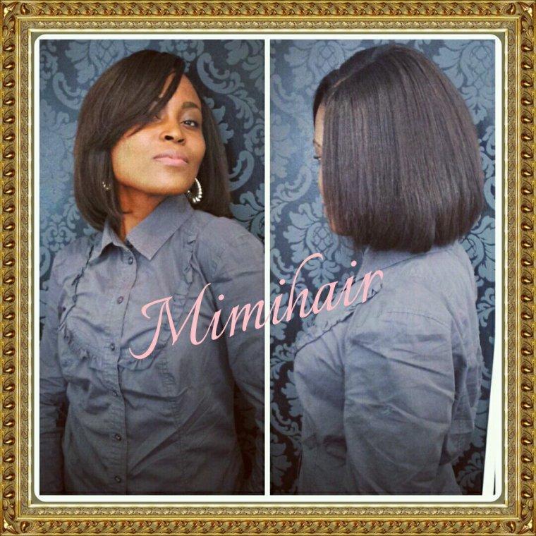 Tissage carr plongeant fashion hair fashion make up - Coupe carre plongeant tissage ...