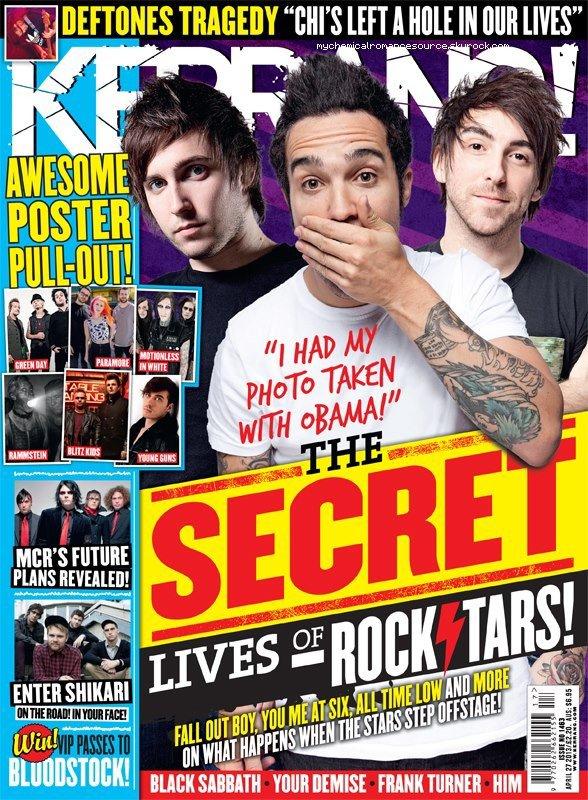 NEWS : Révélations sur le futur d'MCR dans le nouveau numéro de Kerrang! Magazine. (death spells, comic book)