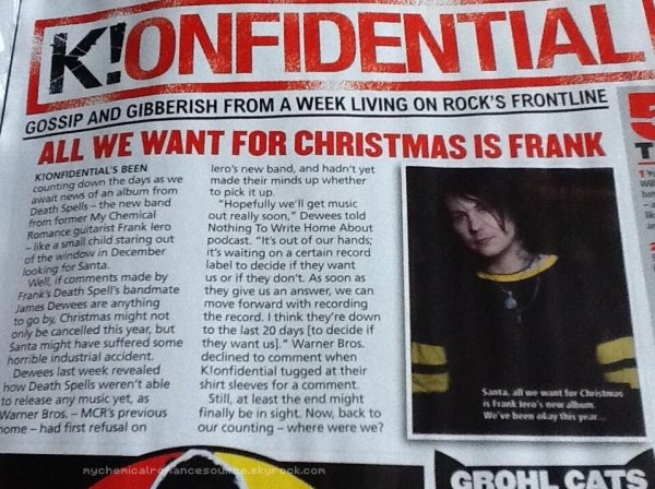 KERRANG! : article sur Frank Iero  → TRADUCTION A VENIR