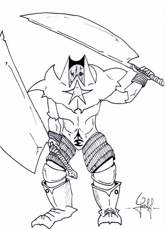 Un chevalier raté ;) : 1er essai du guerrier horrifié !