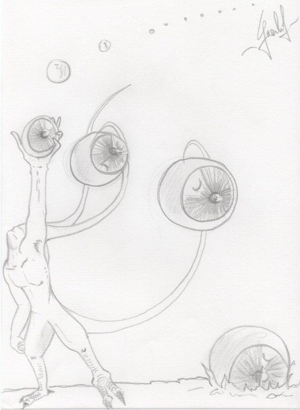 Un dessin étrange ( comme les autres lol) .