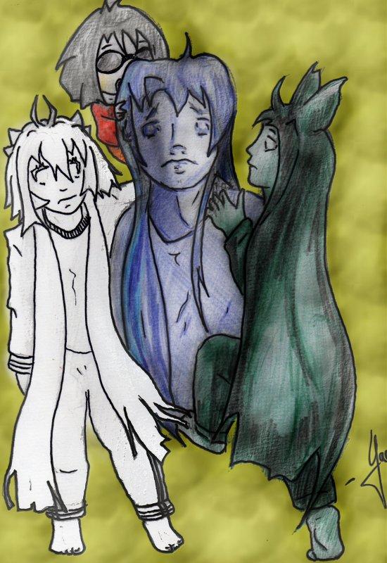 Un autre dessin de Noir et Blanc (et Bleu lol ) pour real illusion.