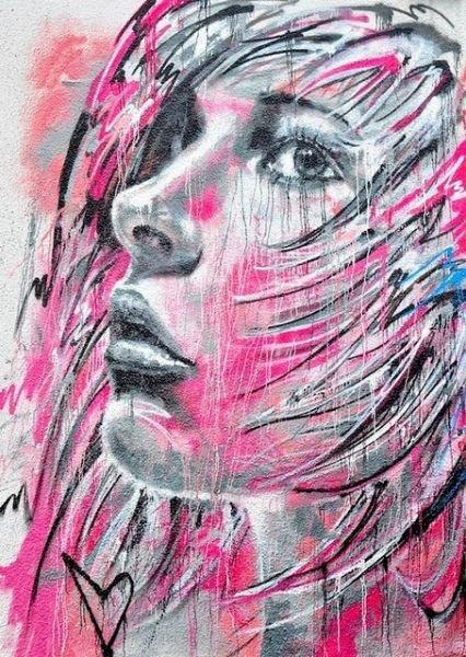 visages en couleurs