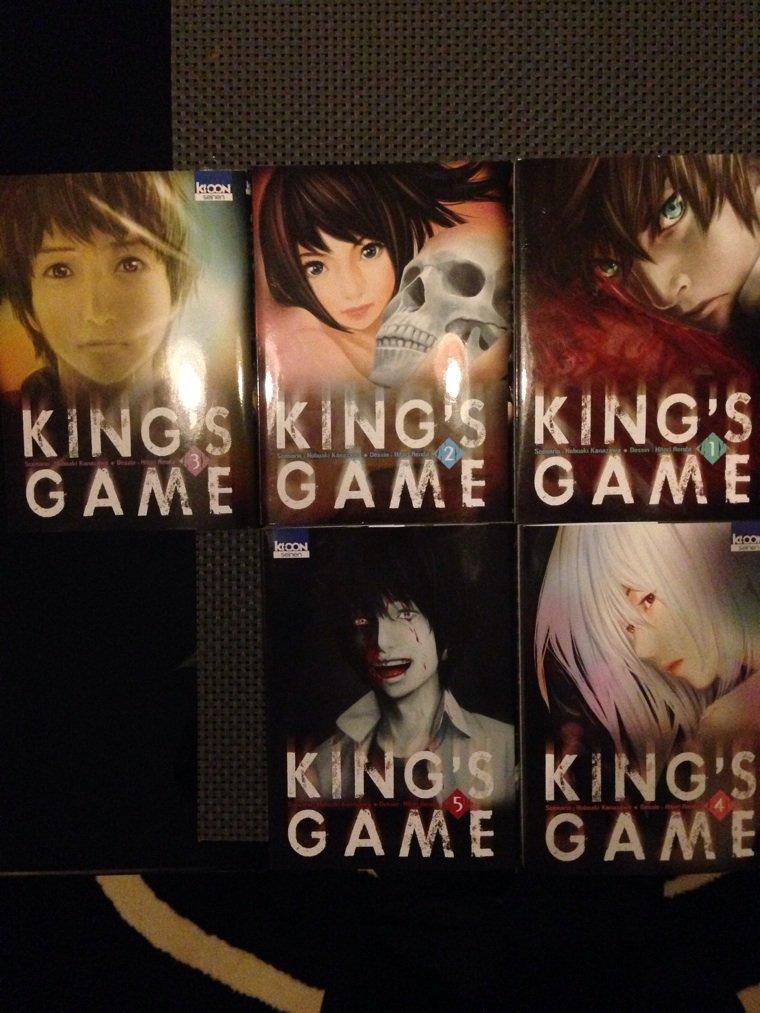Les 5 premier tome du nouveau manga King's game