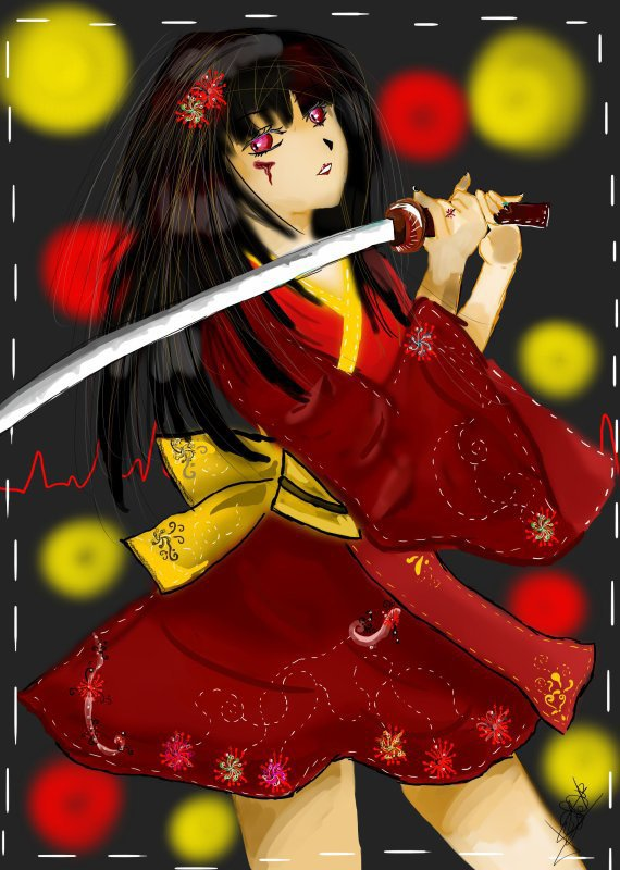 sabreuse en kimono
