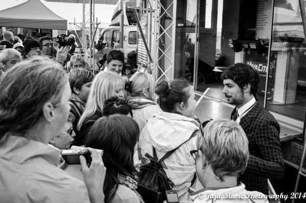 23.08.14 :  Beau Vélo de Ravel 2014 à Marche-en-Famenne (Be) : Julie Carpino, Michael Miro, Saint André.