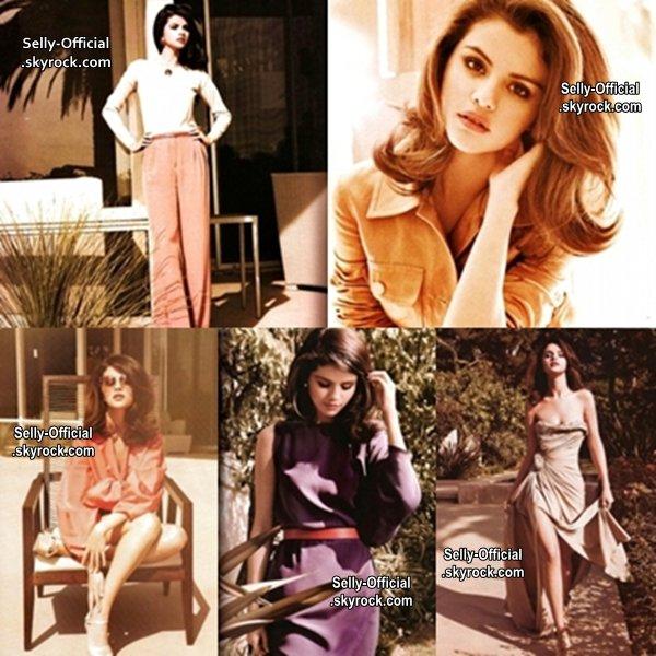 Selena Gomez fait un photoshoot pour le magazine ELLE et apparait sur la couverture.