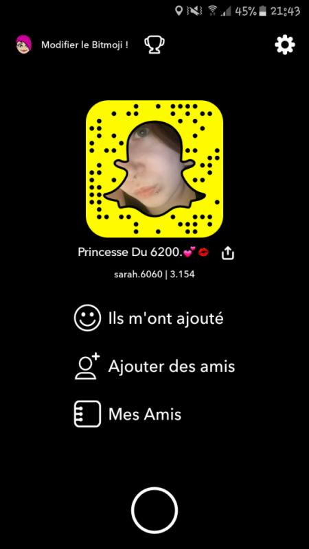 Ajoutez-moi sur Snapchat ! :)