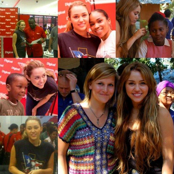 Miley Cyrus se trouve actuellement à Haiti pour pouvoir aider les enfants dans le besoin à travers ce voyage humanitaire.Vous retrouverez les photos de son séjour. Elle s'envolera bientôt pour New York afin de participer à l'émission Late Night with Jimmy Fallon le 03 mars prochain et elle sera également au Saturday Night Live le 05 mars. Demain soir, Miley sera à la soirée organisée par Elton John pour la lutte contre le SIDA.