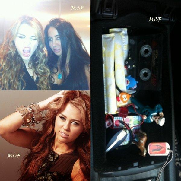 Miley nous montre sa boîte à gants !!!