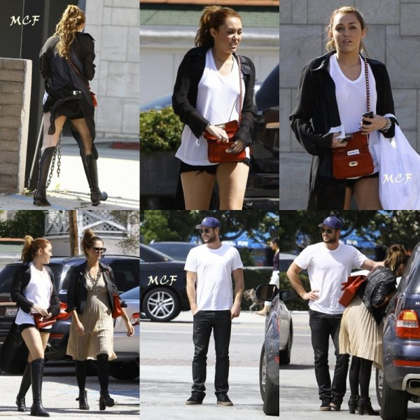 Miley a fait un peu de shopping avec Liam et des amies samedi dernier (23 avril) à Toluca Lake.