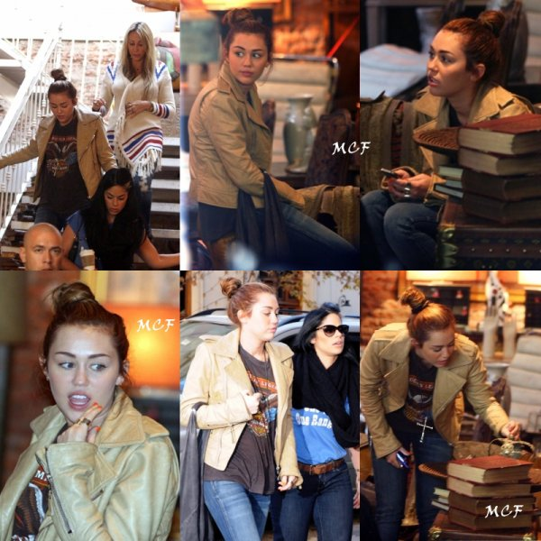 Miley fait du shopping en Argentine.