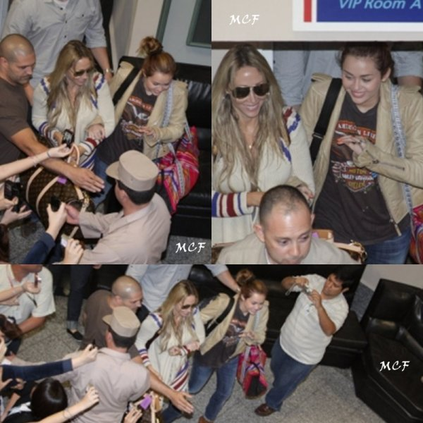 Photos de l'arrivée de Miley au Paraguay.