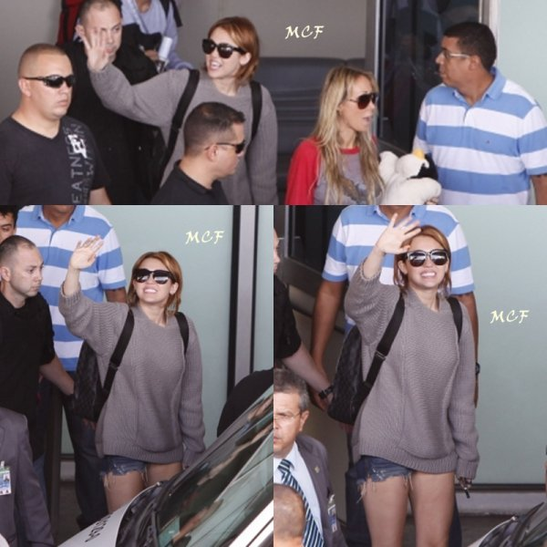 Miley arrive à Rio de Janeiro !!!