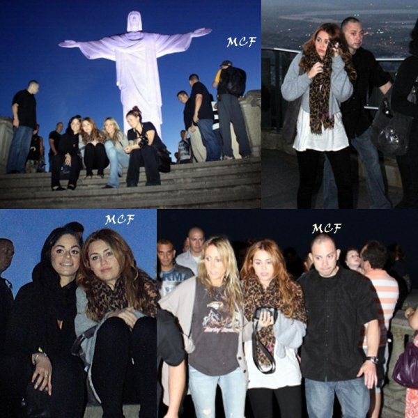 Miley à Cristo Redentor !!!