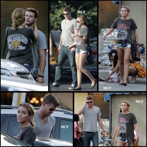 Miley est allée déjeuner hier (24 août) à Los Angeles avec Liam et son amie Jen !!!