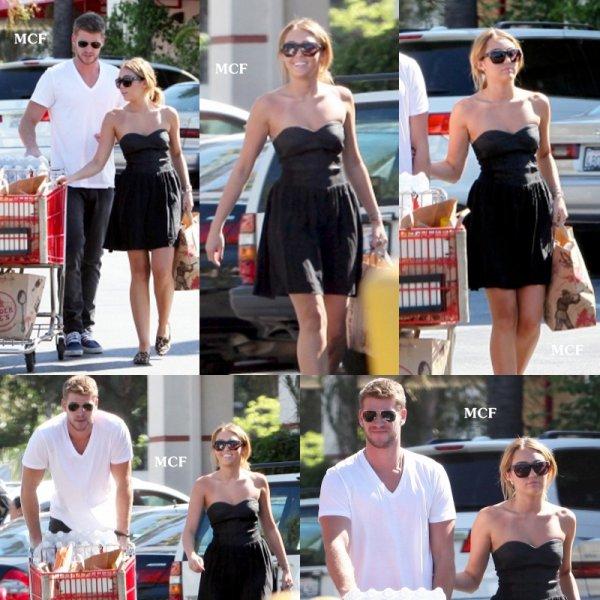 Miley et Liam font leur courses !!!