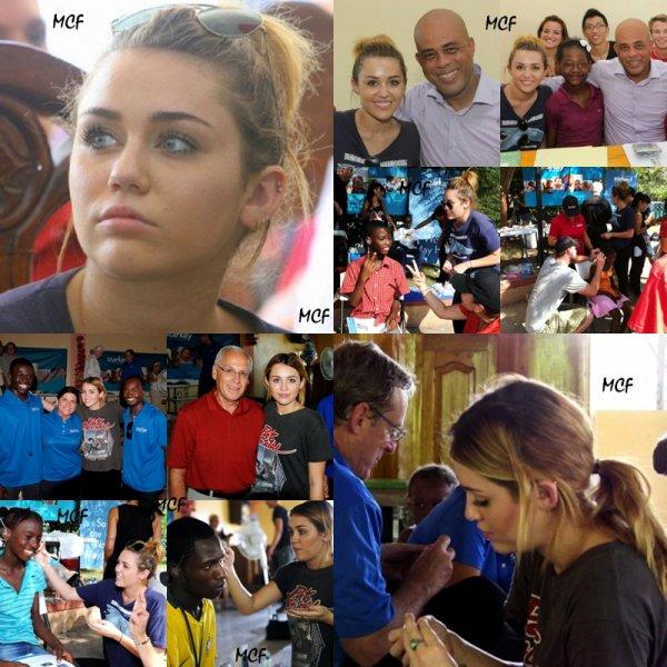 Miley est en Haiti !!!