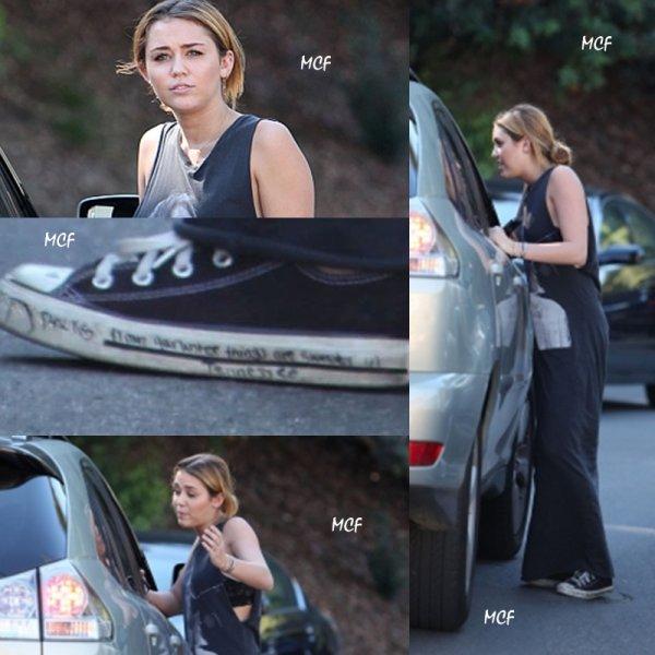 Miley de retour à LA !!!