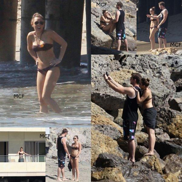 Encore des fotos de Miley et Liam à la plage de Santa Monica !!!