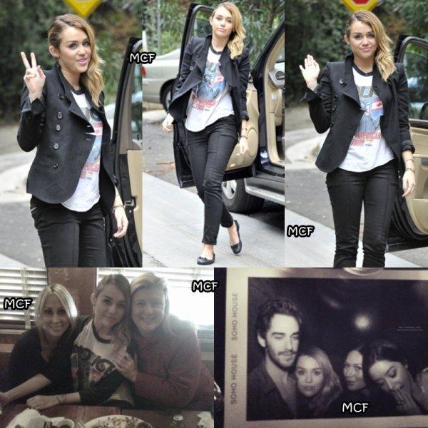 Miley de sortie hier à Studio City !!!