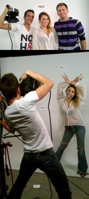Miley pose pour NOH8 !!!