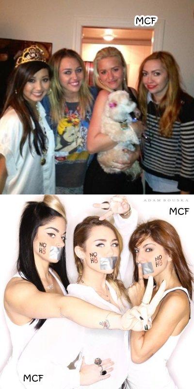 Miley fête 2012 avec Brenda, Brandi et AJ !!!