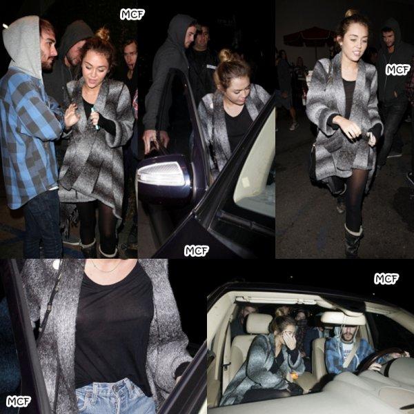 Miley dîne chez Casa Vega !!!