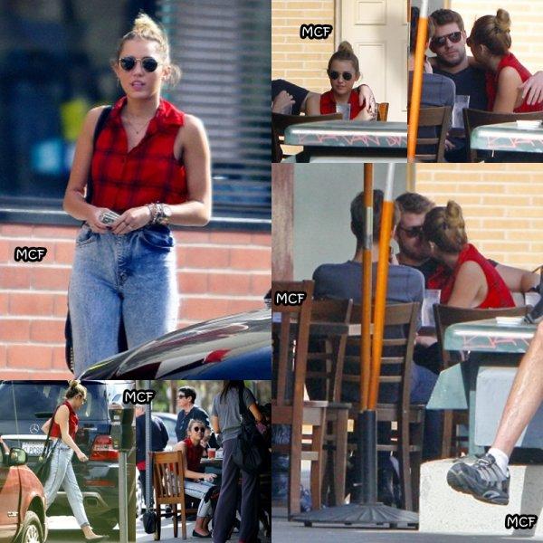 Miley et Liam déjeunant à Los Angeles !!!
