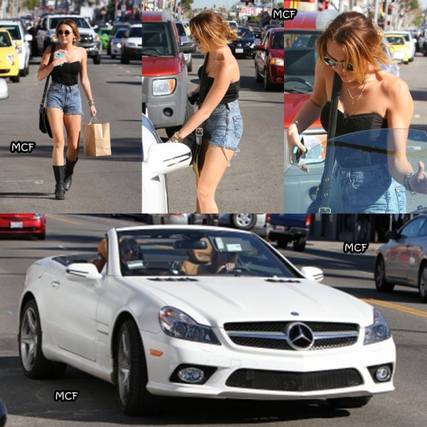 Miley sur Melrose Avenue !!!