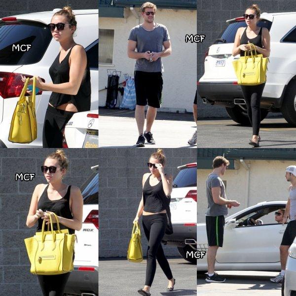 Miley hier (24 février) allant déjeuner chez Patty's avec Liam !!!