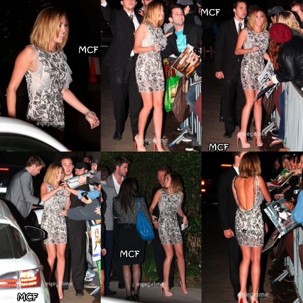 MILEY QUITTANT LA FETE DE WILLIAM MORRIS AVEC LIAM  !!!