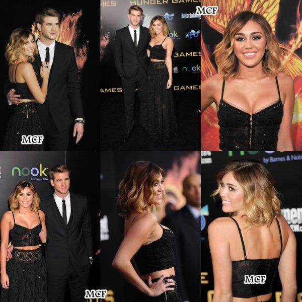 Miley & Liam à l'avant première de « Hunger Games » !!!
