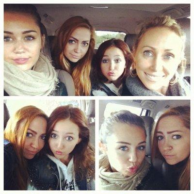 Journée mère/filles pour les Cyrus !!!