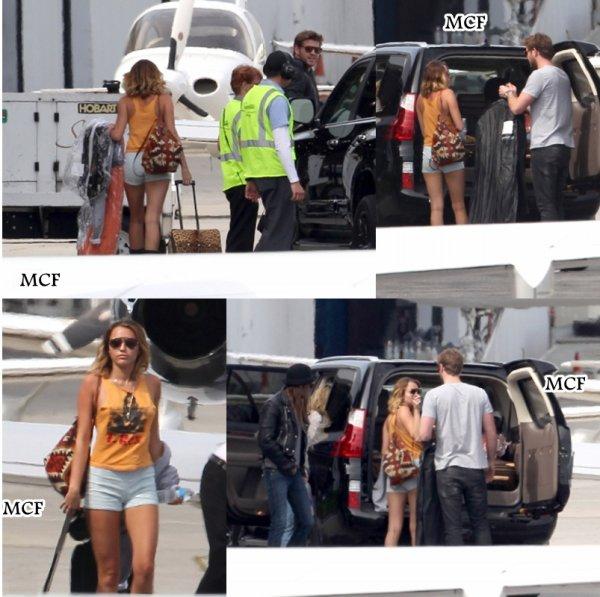Miley s'est envolée hier (23 mars) pour Phoenix en Arizona, où elle participera ce soir à la « Celebrity Fight Night » durant laquelle elle chantera      « Lonesome » !!!