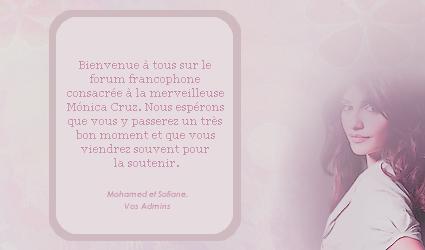 ~ MonicaCruzFrance, Le Forum !