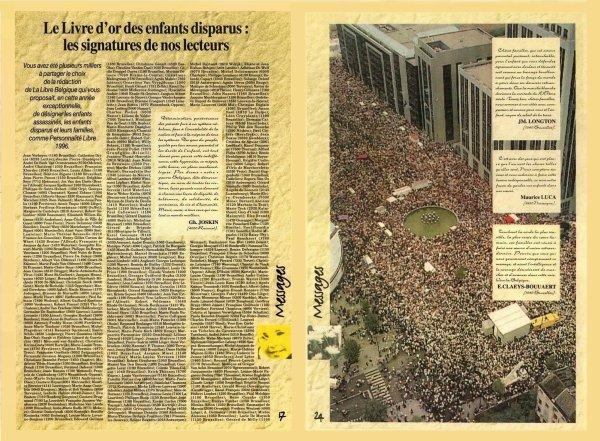 Le Livre d'or des enfants disparus(«Libre Belgique » 19 décembre 1996 pg 17 à 24)