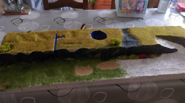 CREATION D'UN DECOR ARRIERE DE DIORAMA