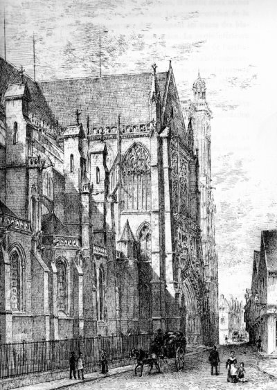 cathédrale troyes gravure