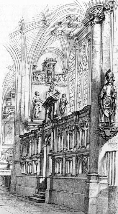 Eglise d'Ervy le Châtel, chapelle de la Vierge