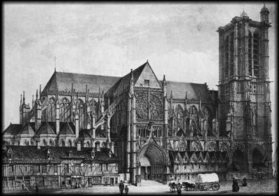 Cathédrale de Troyes, gravure de fichot 2