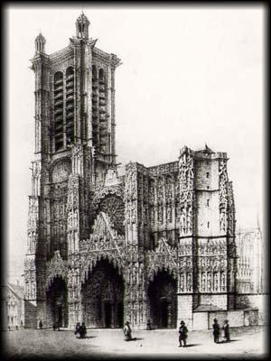Cathédrale de Troyes, gravure de Fichot 3