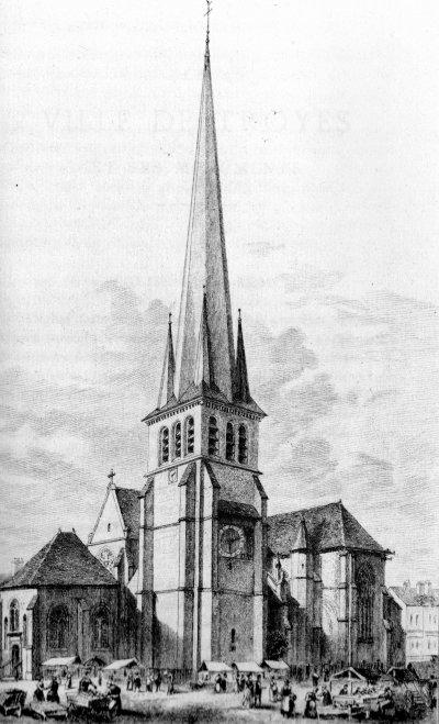 Eglise saint Rémi, Troyes, gravure